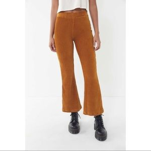 Urban outfitters Cassidy ribbed velvet flare pant